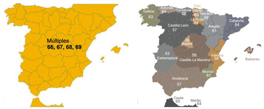 Mapa de canales TDT - Nacional y Comunidades Autónomas