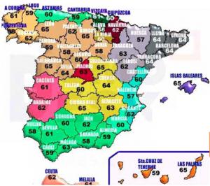 Mapa de canales TDT - Mapa provincial