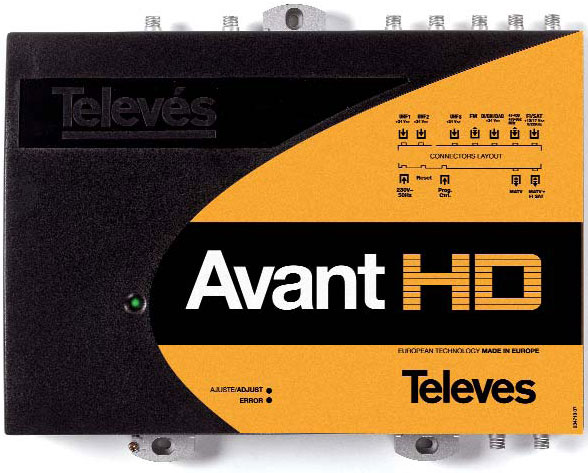 Central Programable Avant HD de Televes